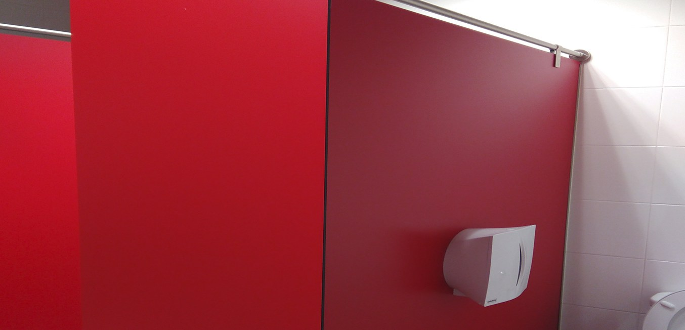 Cabinas Sanitarias Rojas