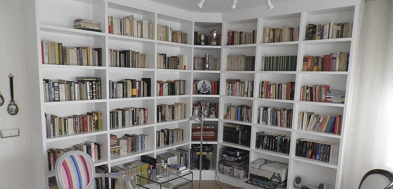 Diesño librería blanca